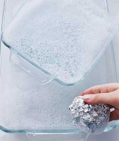 Use foil to clean glassware!