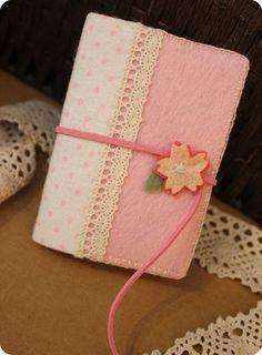 handmade notebook cover in felt