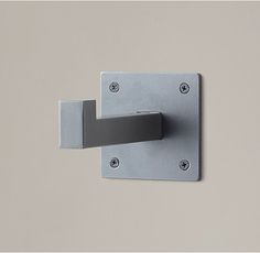 "RH Square Metal Ledge Bracket 4"" sq. x 6½""D Round one - 11.5D"