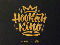 Hookah King T-shirt print by Vova Egoshin