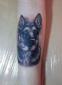 Awesome german shepherd tattoo design