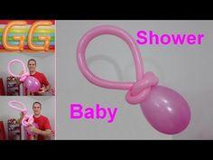 decoracao de balao para cha de bebe - Como fazer Decoração para Chá de Bebê - YouTube