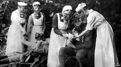 Nursing in WWI was exhausting, often dangerous work and the women who volunteered suffered the horror of war firsthand. Their story is surrounded by myth and their full contribution often goes unrecognised, writes Shirley Williams History Of Nursing, Medical History, Vintage Nurse, Vintage Medical, Gary Cooper, World War One, First World, John Wayne, Cary Grant