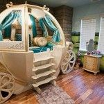 Dreamy Cinderella Carriage Bed White And Gold Color And Creative Design
