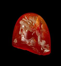 A Roman carnelian intaglio fragment of Apollo Circa Century A. Ancient Rome, Ancient Art, Ancient History, Antique Rings, Antique Jewelry, Anno Domini, Roman Gods, Roman Jewelry, Cameo Jewelry