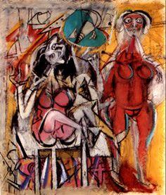 2 Willem de Kooning (1904-1997) Vanaf ongeveer 1928 begon hij stillevens en figuren te schilderen die elementen van de Parijse School en Mexicaanse invloeden combineerden. Aan het begin van de jaren 30 begon hij te experimenteren met abstracte vormen - een grote tegenstelling met zijn latere werk. Dit vroege werk bevat sterke invloeden van Graham en Arshile Gorky en weerspiegelt de invloed die Pablo Picasso en de surrealist Joan Miró op deze jonge artiesten hadden.
