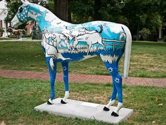 Statues one of the 84 horse statues found around Lexington Kentucky ...