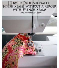Tutorial: How to make a French seam