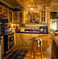 The title of this pic is Italian Country Style Kitchen Design. It's actually just one of many wonderful photograph samples in the post entitled Italian Country Kitchen Furniture. Primitive Kitchen, Cozy Kitchen, Rustic Kitchen, Kitchen Ideas, Kitchen Colors, Kitchen Stove, Kitchen Paint, Cabin Kitchens, Luxury Kitchens