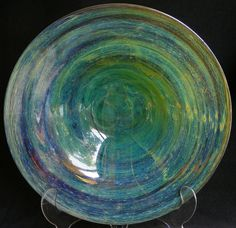 Mdina glass charger, designed by Michael Harris