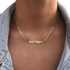 Gold Chain Choker, Dainty Diamond Necklace, Gold Name Necklace, Nameplate Necklace, Custom Name Necklace, Personalized Necklace, Men Necklace, Boho Necklace, Choker Necklaces