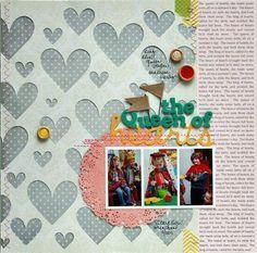 perforer une feuille calque avec des coeurs, des étoiles et la positionner sur un papier imprimé