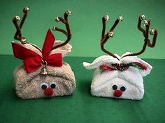 Washcloth Reindeer - holiday memories blog