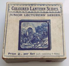 Wild Animals & How They Are Hunted Set of 8 Antique Magic Lantern Slides c1890