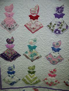 AMAZING! Here is what Sandy can do with her vintage hankies and ... : handkerchief quilts instructions - Adamdwight.com