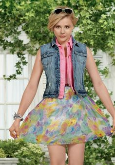 CHLOE MORETZ BLOOM PHOTOS' | Chloë Moretz : Aéropostale « Color in full bloom » | ChloeMoretzFr