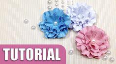 Como fazer flor de papel   Tutorial scrap