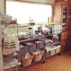 スチールラック/キッチン模様替え/すっきりキッチン/3Coins/3coinsの収納…などのインテリア実例 - 2015-02-01 07:41:04   RoomClip(ルームクリップ)