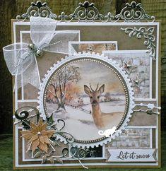 De kaarten van ons Mam: Let it snow Christmas Cards 2018, Create Christmas Cards, Simple Christmas Cards, Christmas Gift Tags, Vintage Christmas Cards, Xmas Cards, Holiday Cards, Birthday Card Pop Up, Winter Karten
