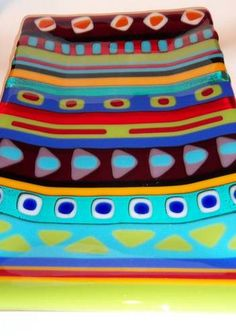Funky Fun Fused Glass Tray - GLASS CRAFTS