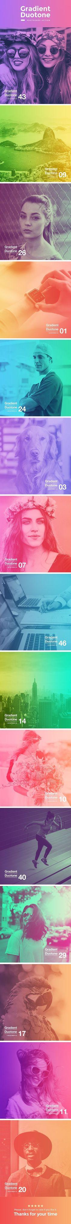 Gradient Duotone Photoshop Action — Photoshop ATN #startup #photoshop • Download ➝ https://graphicriver.net/item/gradient-duotone-photoshop-action/19484088?ref=pxcr