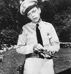 """Barney Fife: """"The last big buy was my mom's and dad's anniversary present.""""  Andy Taylor: """"What'd ya get 'em?""""  Barney Fife: """"A septic tank.""""  Andy Taylor: """"For their anniversary?""""  Barney Fife: """"They're awful hard to buy for. Besides, it was something they could use..."""""""