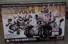 Metal Slug 1/35 Army Vehicle-001 M.S.Evolve Full Mechanism Model Kits GREY Ve