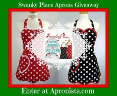 I LOVE Polka Dot aprons!!!    Win a Swanky Place Apron at http://Apronista.com
