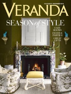 VERANDA United States Magazine is  for the very best in living well. Always gracious, and never pretentious, they keep readers abreast of the finest in design, decorating, luxury travel, and more, inspiring them with beauty and elegance. VERANDA is both an ideas showcase and a deeply pleasurable escape, a place where homes feel as good as they look.Read By Interior Designers, Home Passionate Readers, Designers.