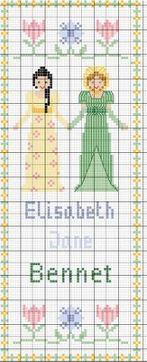 Elizabeth & Jane Bennet - free cross stitch pattern