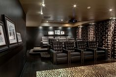 Franklin Lakes Residence - contemporary - media room - new york - Maxey Hayse Design Studios, Inc