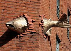 Salmon Sculpture — Portland, Oregon 17 Of The Most Visually Stunning Sculptures From Around The Globe - Swifty.com