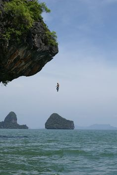 Cliff Diving. Absolutely terrifying. With the right person, I could so do this!!