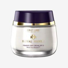 Oriflame Royal Velvet Firming Day Cream Sale In Pakistan – Online shopping in Pakistan Orlando, Advanced Skin Care, Velvet Cream, Oriflame Cosmetics, Black Iris, Face Lotion, Uneven Skin Tone, Aging Cream, Perfect Skin