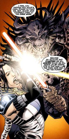 Krayt duels Celeste Morne.