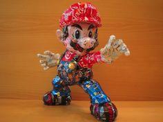 Nintendo Can Sculptures