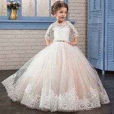 NEW Communion Party Prom Princess Pageant Bridesmaid Wedding Flower Girl Dress
