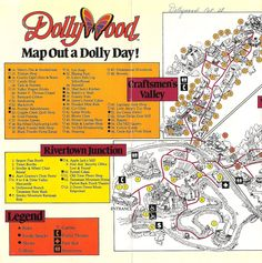 7 Best Dollywood Map - Past & Present images in 2013 | Amut ... Dollywood Park Map on