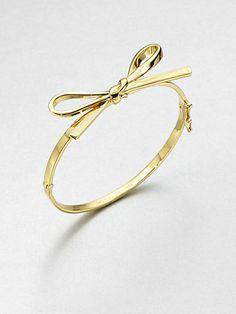 Kate Spade * Skinny Bow Bangle http://bijouxcreateurenligne.fr/bijoux/bracelet-noeud-dore/