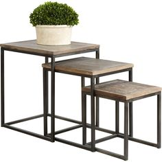 Uttermost Bomani 3 Piece Nesting Tables