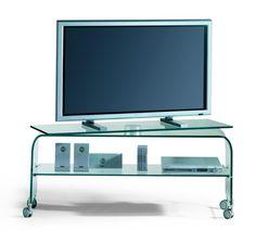 Porta TV in vetro curvato Reflex