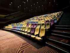 theatre Racetrack-Themed Theaters Theater mit Rennstreckenmotiven - Insun Lotte Cinema von One Plus Partnership zeigt farbenfrohe Tiere (GALERIE) Cinema Theatre, Theatre Design, Hall Design, Theater, Auditorium Architecture, Cinema Architecture, West Hollywood, Play On Playa, Lecture Theatre