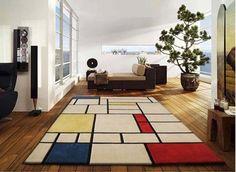Carpet Mondrian Style by Unamoudetapis www.bullesconcept.com