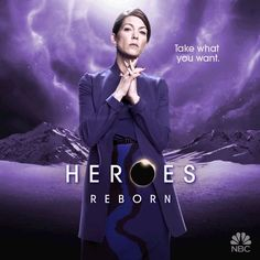 Pin for Later: Prepare to Be Dazzled by the Animated Posters For Heroes Reborn Rya Kihlstedt as Erica