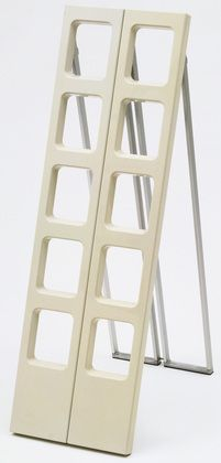Scaleo Folding Ladder Roberto Lucci (Italian) and Paolo Orlandini (Italian) ABS polymer and aluminum, 52 x 8 x 3 x x cm) (closed). Manufactured by Velca, Milan.