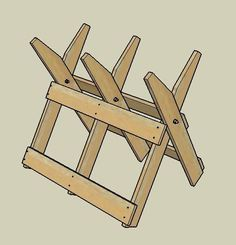 How to Build a Sawbuck for Cutting Firewood via wikiHow.com