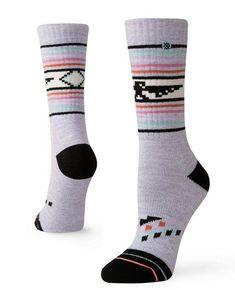Stance Men/'s M 6-8.5 Silly Shrooms Crew Socks Classic Black White Mushroom NEW