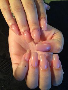 Square Pink Nails! Natural Nails! Overlay! Acrylic #tammytaylorp3 -Wtfimkels