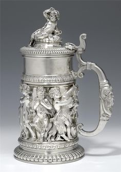 .Sterling Silver Stein: This represents that Mr. Putin Russia thinks my pin about Dave paying a $10M ransom for me, in exchange for Ben Beckmann & Liz Beckmann Mohn not harming me anymore, in Sharpsburg, & saying he wouldn't testify is sterling. Personally, I don't know. Dave, please confirm.