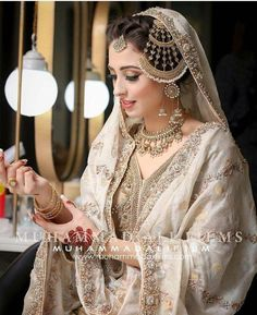 These are top latest designer nikah bridal wear. Stylish and trendy nikah wear 2019 - 2020 Any of these pictures are not owned by me. Asian Wedding Dress Pakistani, Pakistani Bridal Makeup, Bridal Mehndi Dresses, Nikkah Dress, Indian Bridal Fashion, Bridal Dress Design, Pakistani Dress Design, Pakistani Wedding Dresses, Bridal Robes